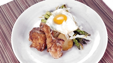 Pan-Roasted Chicken with Asparagus Milanese: Part 2