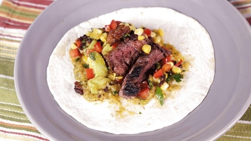 Steak and Chorizo Tacos with Corn Relish and Charred Salsa: Part 2