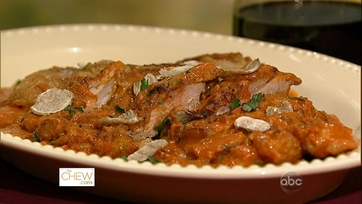 Turkey Thigh Cutlets with Tomato Vodka Sauce and Shaved White Truffles: Part 1