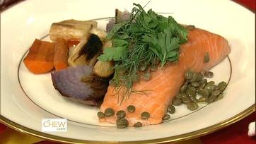 Atlantic Salmon with Lentils