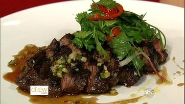 Hanger Steak With Pickled Vegetable Sauce
