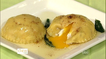 Ricotta and Egg Ravioli with Brown Butter