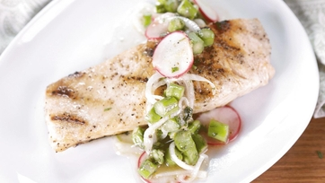 Grilled Salmon with a Fresh Spring Veggie Salad: Part 1
