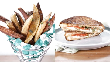 Sweet Pepper Grilled Cheese & Lemon & Herb Salted Fries: Part 1
