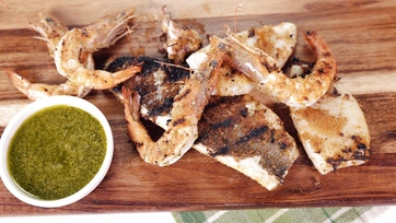 Mixed Seafood Grill with Salsa Verde: Part 1