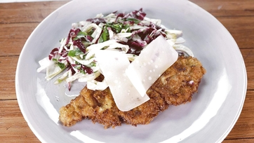 Veal Milanese with a Shaved Vegetable Salad: Part 2