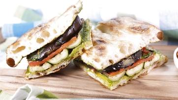 Grilled Vegetable Focaccia Sandwich: Part 1