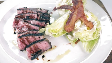 Babbo Rib-eye Steak with Bacon Wedge Salad: Part 2