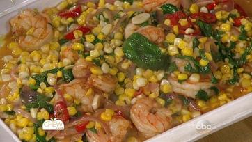 Summer Corn and Shrimp Saute: Part 2