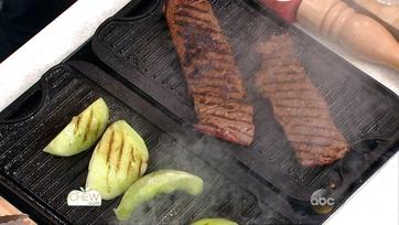 Spicy Grilled Skirt Steak with Grilled Honeydew Salad: Part 1