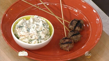 Beef Kebobs with Apricot Yogurt