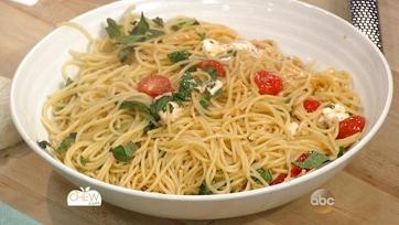 Spaghetti with Fresh Tomatoes, Mozzarella and Basil: Part 2