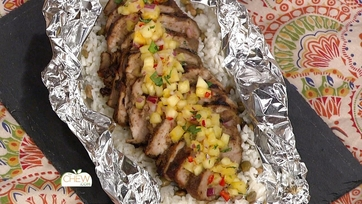 Jerk Pork with Pineapple Salsa and Coconut Rice: Part 1