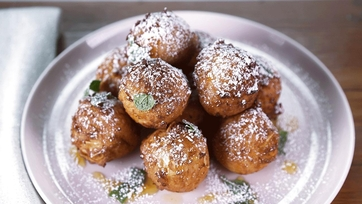 Toasted Almond Ricotta Fritters: Part 2