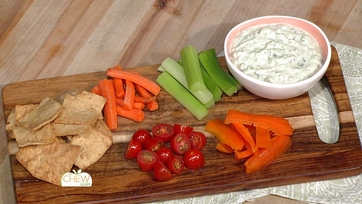 Grilled Tomato Jalapeno Ranch Dip / Party Snack Serving Tip