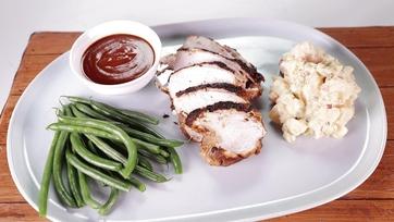 BBQ Brined Spiced Turkey Breast with Potato Salad: Part 2