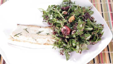 Seared Trout with a Cherry Quinoa Salad: Part 1