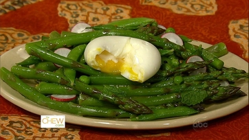 Eggs with Spring Vegetable Salad