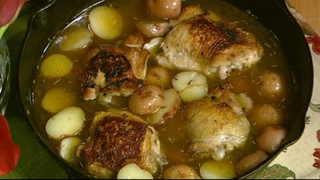 Braised Chicken with Potatoes and Tarragon Part 1