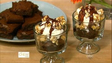Caramel Corn Brownies