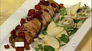 Pork Tenderloin with Bacon-Whiskey Caramel