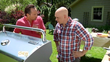Jeffrey Saad and Michael Symon Get Grilling