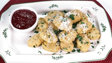 Mario Batali\'s Chickpea Fritters with Hot Chili Jam Recipe