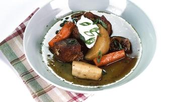Michael Symon\'s Snowed-In Pork Stew Recipe