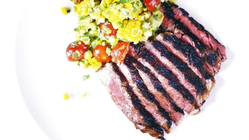 Michael Symon\'s Grilled Rib Eyes & Grilled Corn Salad Recipe: Part 1