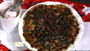 Blueberry Cherry Pie WIth Sour Cream