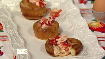Daphne\'s Popovers with Strawberry Honey Compound!