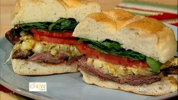Mario\'s Grilled Skirt Steak Sandwich!