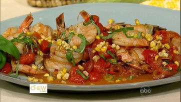 Michael\'s Shrimp with Corn and Basil!