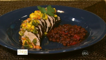 Spiced Pork Tenderloin with Sweet and Spicy Salsa!