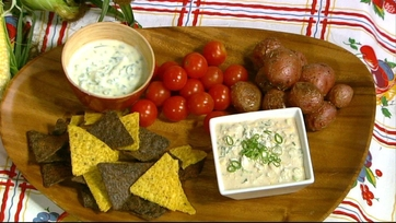 Clinton\'s Roasted New Potatoes and Herb Dip!