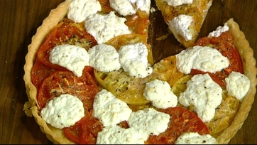 Michael\'s Heirloom Tomato and Ricotta Tart!