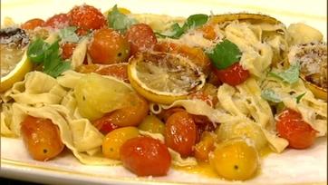 Fettucini with Roasted Lemon, Tomato and Parmesan!