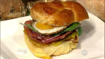 Michael Symon\'s Salami and Egg Sandwich!