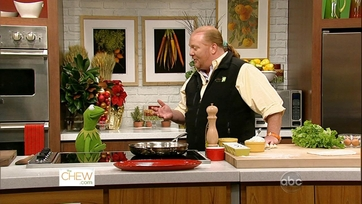 Kermit the Frog Joins Mario on The Chew