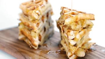 Banana Waffle Sandwich Recipe by Carla Hall: Part 1