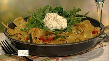 Clinton\'s Pappardelle with Summer Vegetables!