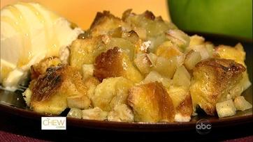 Carla\'s Honey Apple Bread Pudding