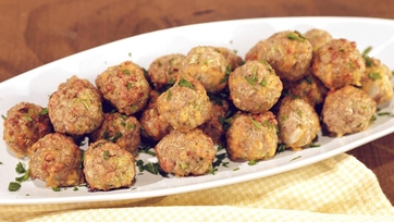 Turkey Broccoli Cheddar Balls Recipe by Daphne Oz