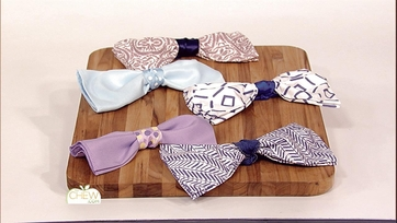 Bowtie Napkins: Clinton\'s Crafts