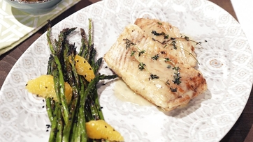 Seared Halibut with Citrus Beurre Blanc & Sesame Roasted Asparagus Recipe by Michael Symon: Part 2
