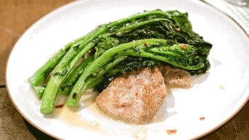 Pork Cutlets with Spicy Broccoli Rabe Recipe by Michael Symon