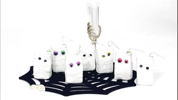 Halloween Decorations: Juice Box Mummies Craft