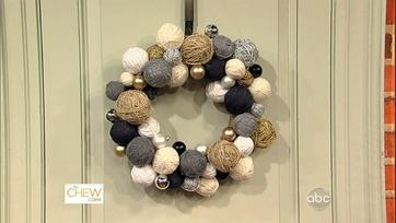 Clinton\'s Craft Corner: Yarn Ball Wreaths