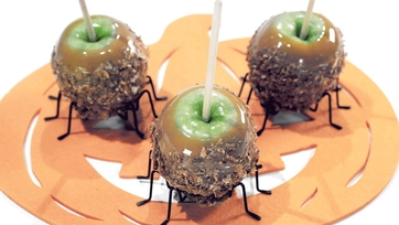 Cinnamon Sugar Caramel Apples Recipe by Carla Hall