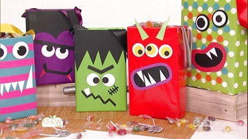 Kid Friendly Halloween Crafts: Cereal Box Monster Trick or Treat Bags